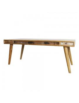Esstisch aus Akazienholz mit 4 Schubladen, Breite 240 cm