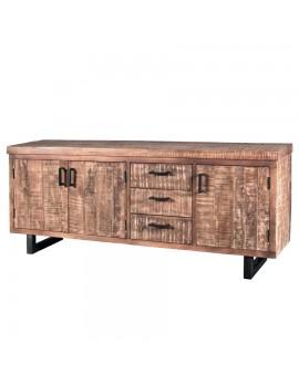 Sideboard mit 3 Türen und 3 Schubladen aus Mangoholz, Breite 200 cm