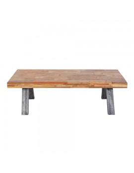 Couchtisch aus recyceltem Holz, mit Metallbeinen, BreitexTiefe 140x70 cm