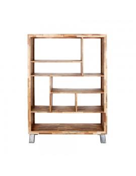 Bücherregal mit offenen Fächern, aus recyceltem Holz, Höhe 181 cm