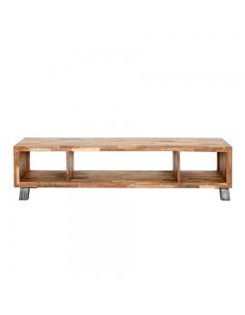 TV-Konsole mit 3 offenen Fächern, aus recyceltem Holz, Breite 200 cm