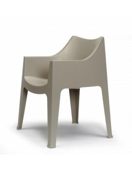 Gartensessel taupe, Gartenstuhl taupe Kunststoff, Stuhl taupe stapelbar