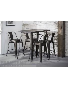 Gastronomie Bartisch Metall grau, Tisch grau Metall, Höhe 92 cm