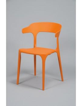 Gartenstuhl orange stapelbar,  Stuhl Kunststoff  orange