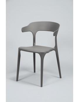 Gartenstuhl grau stapelbar,  Stuhl Kunststoff  grau