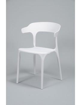 Gartenstuhl weiß stapelbar,  Stuhl Kunststoff  weiß
