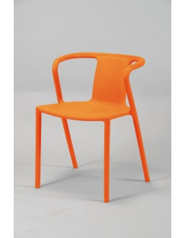 Gartenstuhl orange,  Stuhl Kunststoff orange