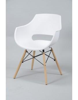 Design Stuhl weiß, Stuhl Kunststoff Sitzschale weiß