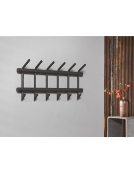 Wandgarderobe Metall grau, Garderobe grau Metall, Breite  67 cm
