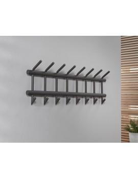 Wandgarderobe Metall grau, Garderobe grau Metall, Breite  90 cm