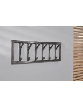 Wandgarderobe Edelstahl, Garderobe grau Metall, Breite 100 cm