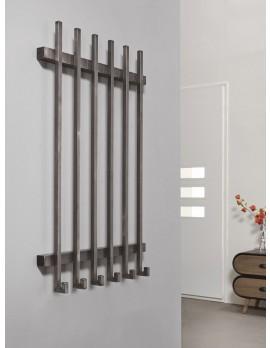 Wandgarderobe Metall grau 6 Haken, Garderobe grau Metall, Breite 65 cm