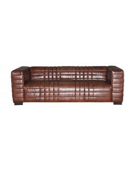 Sofa gesteppt braun, Sofa 3er Sitzer, Modern Sofa braun