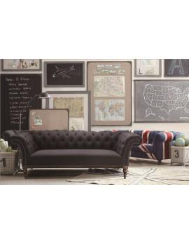 Chesterfield Sofa 3er Sitzer, Sofa grau klassisch