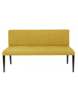 Bank gelb, Sitzbank gelb, Breite 156 cm