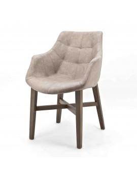 Stuhl mit Armlehne sand, Gastro-Stuhl sand