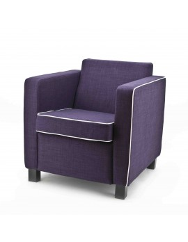 Sessel Farbe violett, moderner Sessel gepolstert