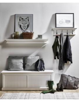 Aufbewahrungskasten/ Truhe im Landhausstil in weiß, Breite 140 cm