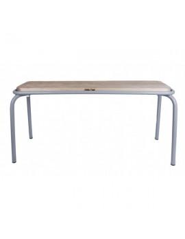 Bank grau, Sitzbank Metall, Länge 180 cm