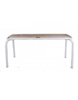 Bank weiß, Sitzbank Metall, Länge 180 cm