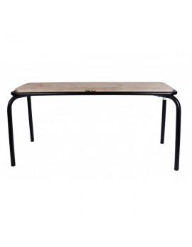 Bank schwarz, Sitzbank Metall, Länge 180 cm