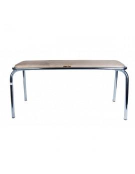 Bank silber, Sitzbank Metall, Länge 180 cm