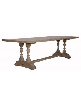 Tisch Landhaus Massivholz, Esstisch Holz, Länge 220 cm