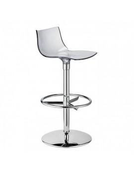 Barstuhl, transparent, Sitzhöhe 75 cm, chrom