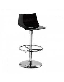 Barstuhl, schwarz, Sitzhöhe 75 cm, chrom