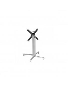 Stehtischgestell klappbar weiß Metall, Tischgestell Metall weiß, Metall-Gestell für Stehtischsäule weiß , Höhe 109 cm