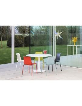 Esstisch rund weiß, Tisch Glasplatte rund , Tisch in sechs Farben, Durchmesser 100-120 cm