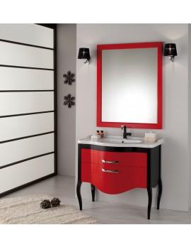 Waschtisch mit Spiegel im Landhausstil in verschidenen Farben, Breite 110 cm