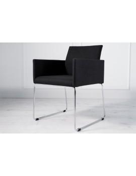 Stuhl schwarz mit Armlehne, Besucherstuhl schwarz, Stuhl mit Armlehne schwarz