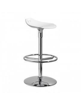 Barstuhl, weiß, Sitzhöhe 75 cm, chrom Drehbar