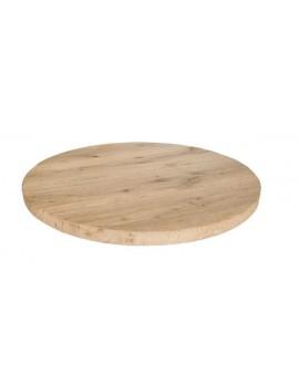 Tischplatte Eiche massiv, Tischplatte rund Eiche, Durchmesser 80 cm