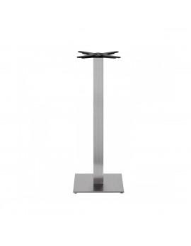 Stehtischgestell Edelstahl, Tischgestell silber, Metall-Gestell Stehtischsäule Edelstahl satiniert , Höhe 109 cm