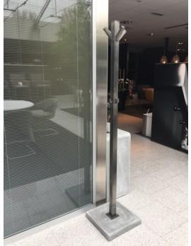 Garderobenständer Metall,  Standgarderobe Metall Beton, Höhe 185 cm