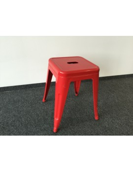Hocker rot Metall Industriedesign, Sitzhöhe 45 cm