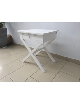 Nachtisch weiß, Beistelltisch weiß Landhausstil, Beistelltisch Holz, Maße 55 x 45 cm