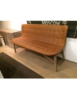 Bank gepolstert cognac, Sitzbank gepolstert, Breite 160 cm