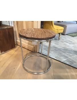Beistelltisch rund schwarz, Beistelltisch Altholz, Tisch rund, Durchmesser 50 cm