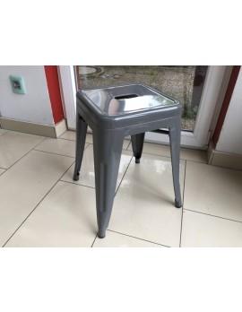 Hocker grau Metall Industriedesign, Metall Hocker grau stapelbar