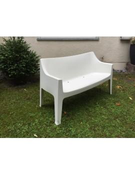 Gartenbank weiß, Sofa Kunststoff, Outdoor Bank weiß