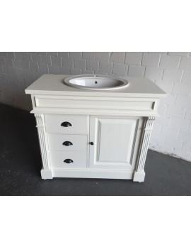 Waschtisch weiß Massivholz,  Waschtisch im Landhausstil weiß