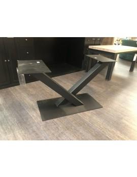 Tischgestell Metall Industriedesign, Metall Tischgestell schwarz, Breite 140 cm