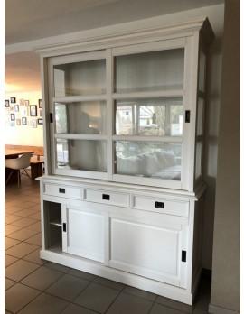 Vitrine weiß Landhausstil, Geschirrschrank weiß Landhaus, Breite 160 cm