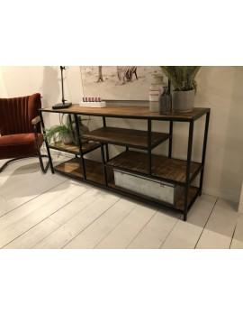 Sideboard Industriedesign Metall, Regal Metall Industrie, Anrichte Landhaus Metall, Breite 160 cm
