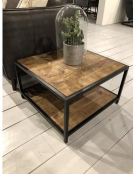 Beistelltisch Industriedesign Metall, Couchtisch Metall Industrie, Tisch Landhaus Metall, Breite 60 cm