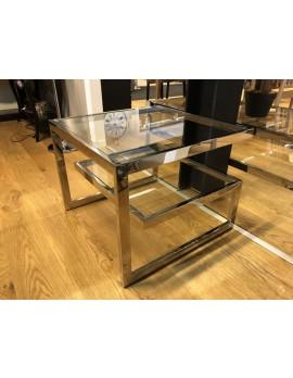 Beistelltisch verchromt, Beistelltisch Glasplatte, Glastisch