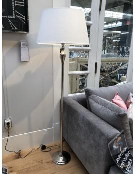 Stehlampe mit Lampenschirm, Stehleuchte Lampenschirm weiß, Durchmesser 55 cm